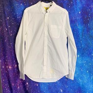 NWT-Five Four- White Button up Shirt size Medium